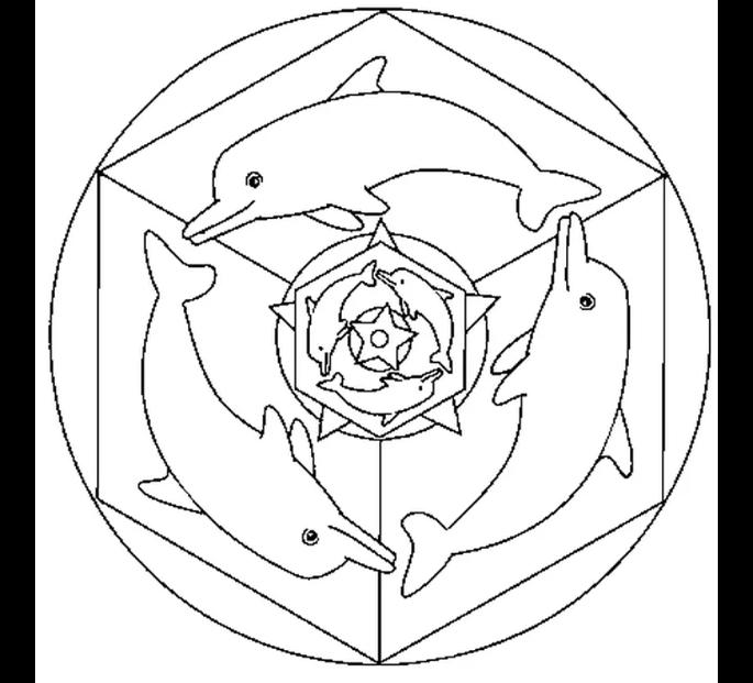 Mandala dauphin